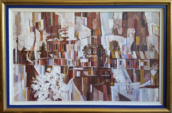Artist A W Morton - Abstracts on display