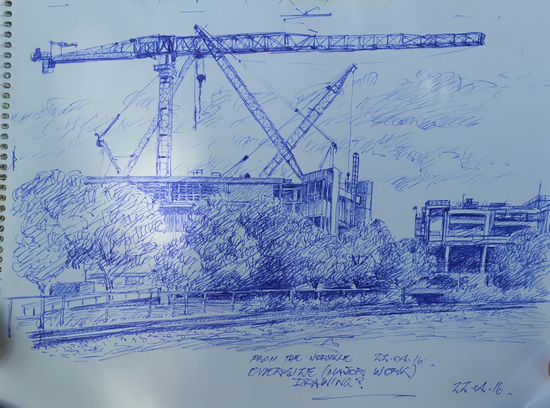 """Quickie"" Sketch for proposed work View from northern side."